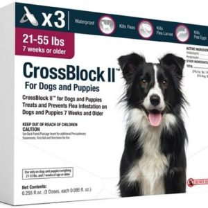 CrossBlock II Flea Preventative for Dogs 21-55 Lbs. (3-Pack)