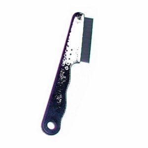 COMB FLEA W/BLK.PLASTIC GRIP HANDLE