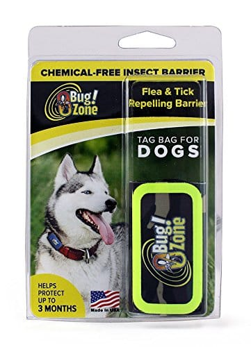 0Bug!Zone 852968003520 Flea & Tick Repelling Barrier Tag Bag for Dogs, One Size