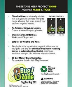 0Bug!Zone Flea and Tick Barrier Tag for Dogs, Single Tag