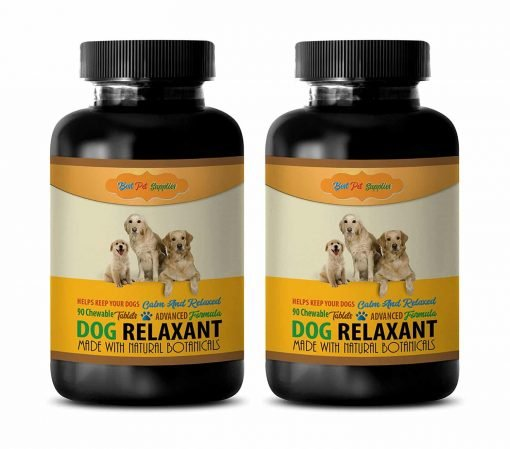 BEST PET SUPPLIES LLC Dog Calming Treats Soft Chew For Anxiety - DOG RELAXANT - CALM AND RELAXED FOR DOGS - NATURAL BOTANICALS - CHEWABLE - Valerian Root Dogs - 180 Chews (2 Bottle)
