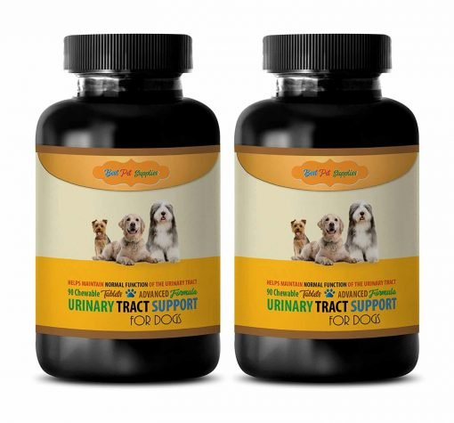 BEST PET SUPPLIES LLC dog urinary tract support - ADVANCED URINARY TRACT SUPPORT - FOR DOGS - CHEWABLE - POWERFUL DOG FORMULA - Dog Marshmallow - 180 Chews (2 Bottle)
