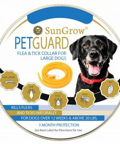 Flea and Tick Collar = 3 Months of protection + Special Water-resistant design + Made with Natural Essential Oils for Pest Control + Non-Greasy And Odorless + Suitable for Large Dogs + Easy to Use