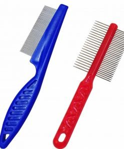 SONKI Double Side Comb Pet Flea Comb For Dogs Cats Pet Puppy Shedding Grooming Tool Massaging Flea Brush