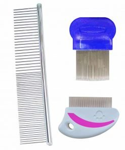 Dog Grooming Comb Flea Comb and Dog Shedding Brush Tear Stain Remover Combs for Dogs And Cats with Short to Long Hair, Metal Comb Gently And Effectively Removes Tangles, Crust, Mucus and Stains from You