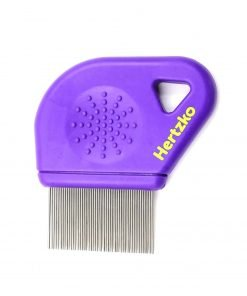 Hertzko Closely Spaced 25mm Long Metal Pins Teeth Flea Comb For Pets