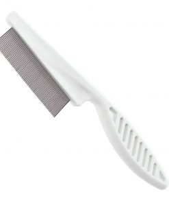 Ennc Pet Grooming Tool Extra Fine Toothed Flea Comb Cat/Dog Stainless Steel Brush Comb -White