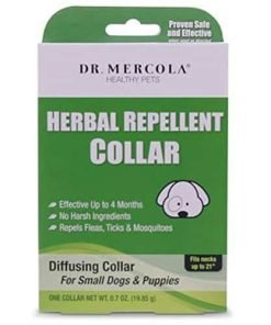 Dr Mercola Herbal Repellent Collar For Small Dogs And Puppies - Repels Ticks/Fleas/Mosquitos - Effective Up To 4 Months - Premium Pet Care Products