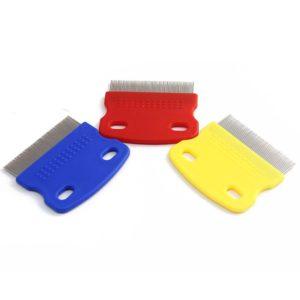 UEETEK Flea Comb Small Steel Brush Tool For Pet Dog Cat Rabbits (Random Color)