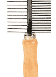Trixie Medium/Wide Teeth Comb With Wooden Handle For Dogs