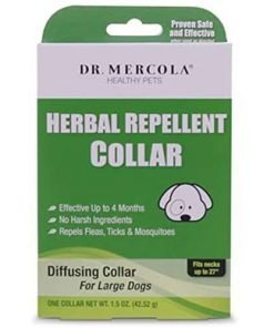 Herbal Repellent Collar For Dogs And Puppies - No Harsh Ingredients - Repels Fleas, Ticks, Mosquitoes - Dr. Mercola Healthy Pets - 1 Collar (Effective Up To 4 Months) (Large Dogs (Necks up to 27