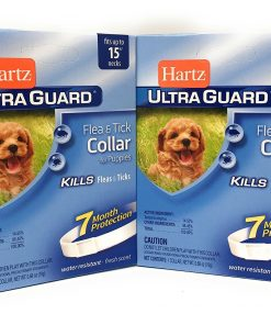 HARTZ Flea Tick Collar For Puppies Water Resistant 7 Months Protection Fits Necks Up To 15 Inches Pack Of 2