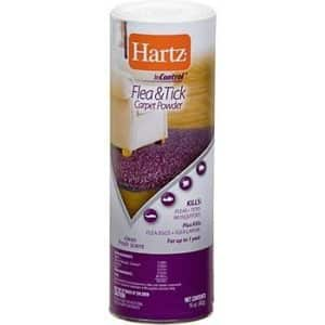 2 PACK Hartz InControl Flea And Tick Carpet Powder And 1 FREE Pet Bowl