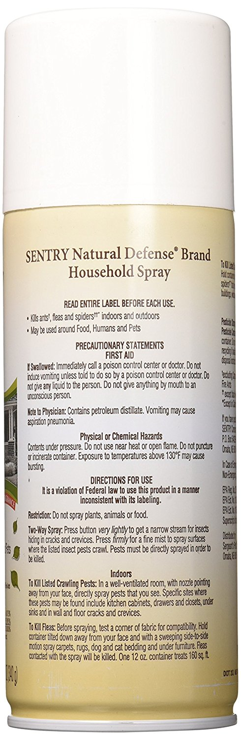 Sentry Natural Defense Flea And Tick Household Spray