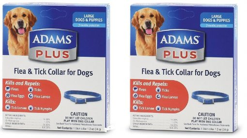 (2 Pack) Flea And Tick Collar For Dogs, Size Large