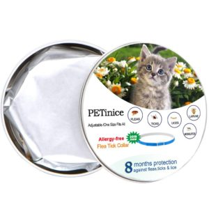 Flea and Tick Prevention for Cats,Flea Control for Cats-Prevents,Repels Fleas,Ticks And Lice Waterproof and Adjustable Cat Flea and Tick Control for 8 Month Protection(New Version)