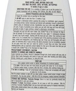 (3 Pack) Zodiac Flea & Tick Shampoo for Dogs & Cats, 12-ounce