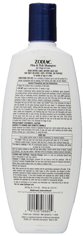 (3 Pack) Zodiac Flea & Tick Shampoo for Dogs & Cats, 12-ounce