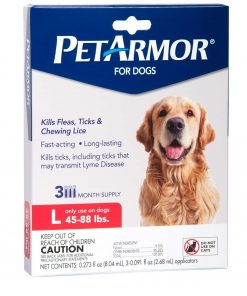 PetArmor Flea And Tick Treatment For Dogs, 45-88 lbs, 3 ct