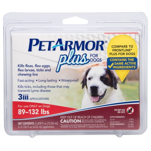 PETARMOR 3 Count Plus For Dogs Flea And Tick Squeeze-On