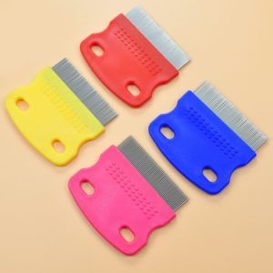 Usaboutall Stainless Steel Toothed Hair Cleaning Brush Pet Dogs Cats Flea Removal Comb