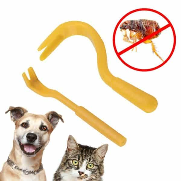 2Pcs/Set Different Size Louse Flea Scratching Remover Twist Tools For Dogs,Cats