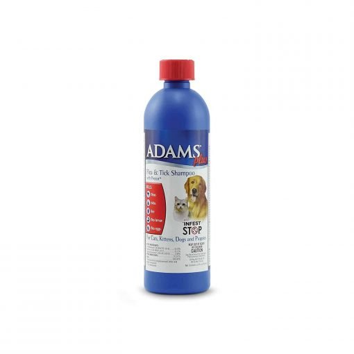 Adams Plus Flea And Tick Shampoo With Precor For Dogs And Cats