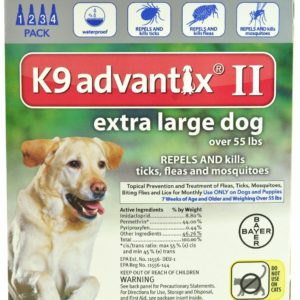 Advantix II K9 Flea Tick & Mosquito Treatment Extra Large Dog Over 55 lbs -- 4 Tubes
