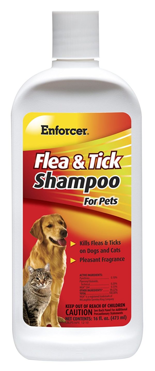Enforcer Flea And Tick Shampoo, 16-Ounce