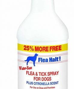 Flea Halt! Water-Based Flea & Tick Spray for Dogs Plus Citronella Scent, 40 fl oz