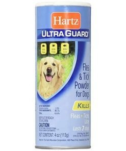 Hartz Ultra Guard Flea & Tick Powder For Dogs 4 oz (Pack of 6)