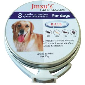 Jmxu's Pet Flea Collar, 8 Months Protection, For Dogs And Puppies, Waterproof, 25 Inches