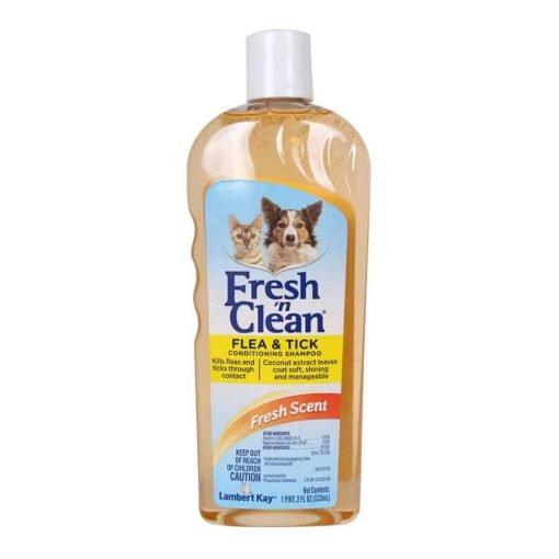 Lambert Kay Fresh 'n Clean Flea and Tick Small Pet Conditioning Shampoo, 18-Ounce