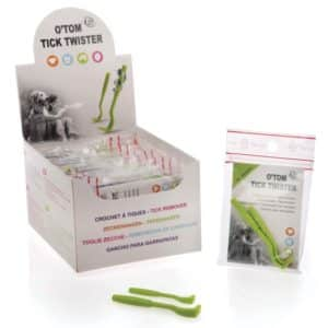 O'Tom Tick Twister Pack Of 2 Green