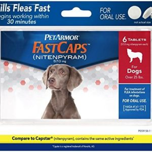 PetArmor FastCaps For Dogs - 25 lbs - 6 ct By PETARMOR