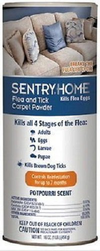 Sentry Flea And Tick Carpet Powder 16oz