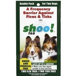 Shoo!TAG Dog Flea/Tick Double Pack by 0BugZone (previously known as shoo!TAG)