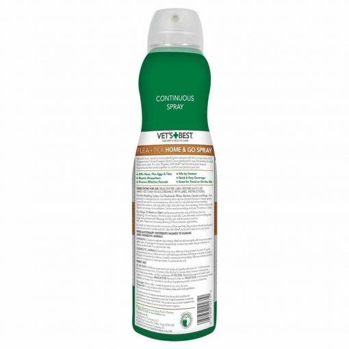 Vet's Best Flea And Tick Home And Go Spray, 6.3 oz, USA Made