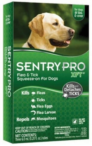 Sergeants Sentry Pro XFT Flea And Tick Treatment, For Dogs Over 60-Lbs. - 3 MONTH SUPPLY