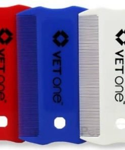 Vet One Flea And Lice Comb 3 Pack Red White And Blue (one of each)