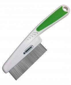Pixikko Pet Flea Comb - Extra Fine 18mm Metal Pins Remove Flea, Flea eggs, Flaky Skins, and Loose Hair