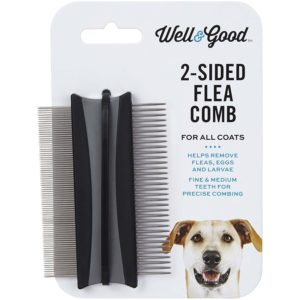 "Well And Good 2-Sided Dog Flea Comb, 3"" L X 2"" W"