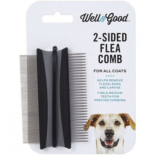 """Well And Good 2-Sided Dog Flea Comb, 3"""" L X 2"""" W"""