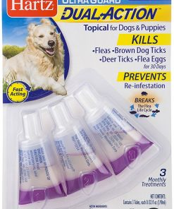 HARTZ Ultra Guard Dual Action Drops For Dogs And Puppies, 31-60 lb