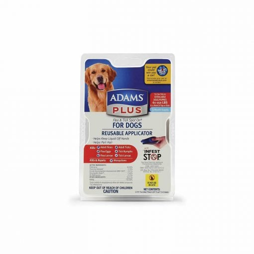 Adams Plus Flea and Tick Spot On For Dogs, Extra Large Dogs 61-150 Pounds, 3 Month Supply, With Applicator