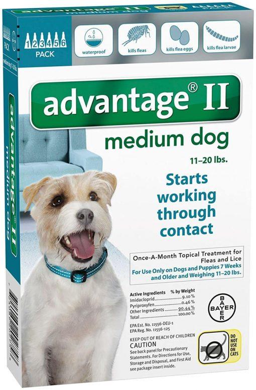Advantage II Medium Dog 6-Pack