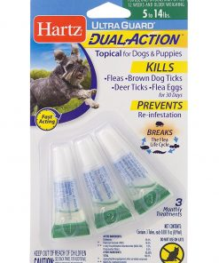 HARTZ Ultra Guard Dual Action Drops For Dogs And Puppies, 5-14 lbs