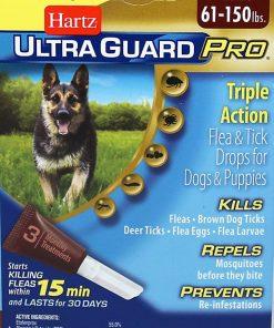 Hz Ugpro Ft Drps Dg 60lbs Size .22z Hartz Ultraguard Pro Flea & Tick Drops - Dogs & Puppies 60+ Lbs. .22oz