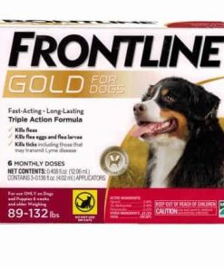 Frontline Gold for Dogs 89 - 132 lbs Red (6 Monthly Doses)