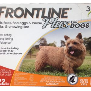 3-doses 5-22 lbs Dogs Flea And Tick Treatment, Small, Orange